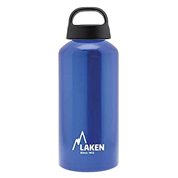 Laken Classic Aluminum Water Bottle Wide Mouth with Screw Cap and Loop BPA Free Made in Spain 20oz Blue