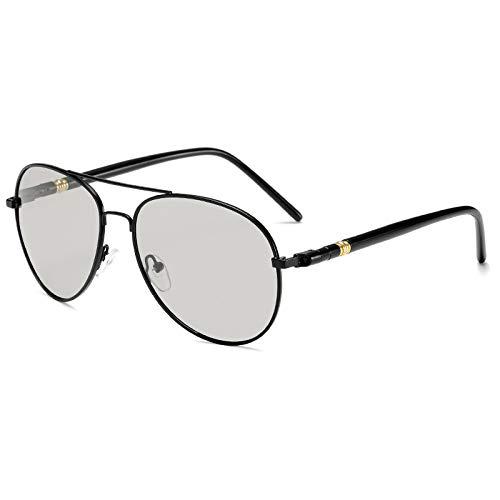 Polarizando Las Gafas De Sol Color Cambio De Gafas De Sol Día Y La Noche Gafas De Sol De Dos Usos Zhenzhiyangshangmao (Size : Black Frame Color Changing Film)