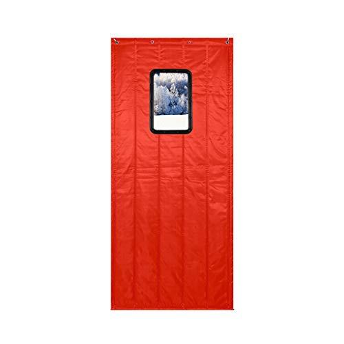 Zelfs deur gordijn partitie gordijn winddichte haak met raam, eenvoudig te installeren, houden warm,7 kleuren 5 grootte aanpasbaar