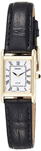 Seiko Orologio Analogico Solare Unisex con Cinturino in Pelle SUP250P1