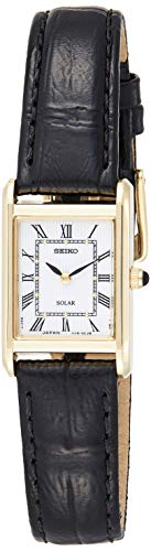 Seiko Herren-Uhr analog Solar mit Lederarmband SUP250P1