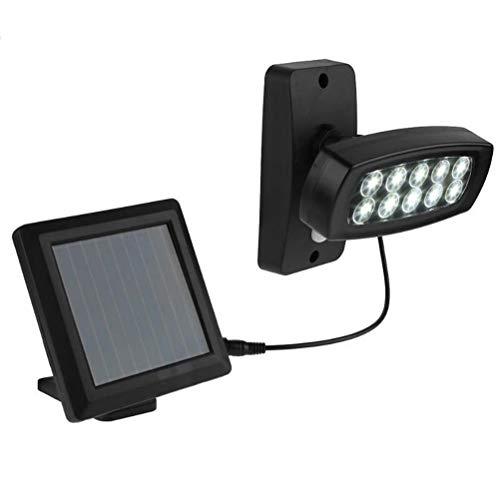 Yissma LED Außenstrahler mit Solar-Panel und Bewegungs- Dämmerungssensor | 6.500K | IP65 | für Garten, Hof und Garage