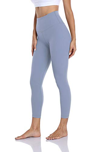 Hawthorn Athletic 7/8 longitud esencial cintura alta pantalones de yoga adelgazamiento activo tobillo Legging - 60 cm - Azul - Large