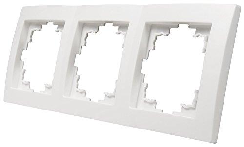 MC POWER - 3-fach Rahmen | FLAIR | weiß, matt
