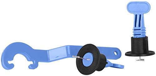 Fliesen Nivelliersystem | Nivelierset Fliesen Zubehör | 50 T Laschen | Spezialschlüssel | Fliesen Verlegehilfe für einfachen Verlegen von Fliesen | Fliesenleger Werkzeug