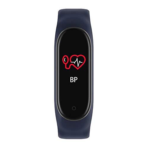 Nobrand M4 Fitness-Tracker mit Pulsmesser, Sport-Modus, Schrittzähler für Kinder, Männer und Frauen schwarz