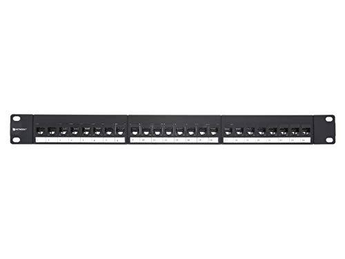 Networx CAT6 High-Density Feed Through Patch Panel - 24 Port, 1U