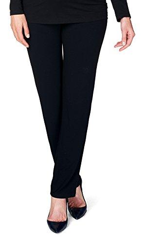 NITIS Schwangerschaftshose Umstandshose Damen Hose Pants (L (Herstellergröße: 40/36), schwarz (Black))