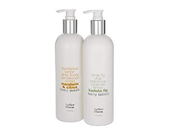 Atelier Bloem Body Care Set with Mandarin & Citrus Body Wash and Kadota Fig Body Lotion - 16 oz Bottles