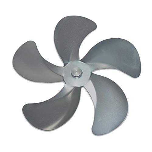 perfk Aspa de Ventilador de Estufa, 5 Aspas de Repuesto para Ventilador de Estufa Ventilador de Calor para Quemadores de Madera/Leña O Chimenea - Gris, Individual