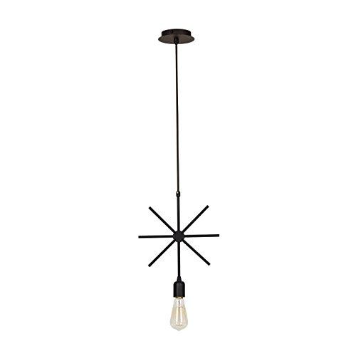 Moira Verlichting door homemania Draad Hanger Lamp E27, 100 W, Zwart, 29 x 39 cm, 74 Drive