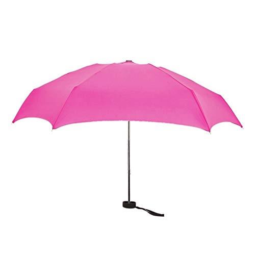 BUYYUB Folding Umbrella Compact Weatherproof Lightweight Durable Outdoor Men and Women UV Protection Mini Umbrella (Color : MR)
