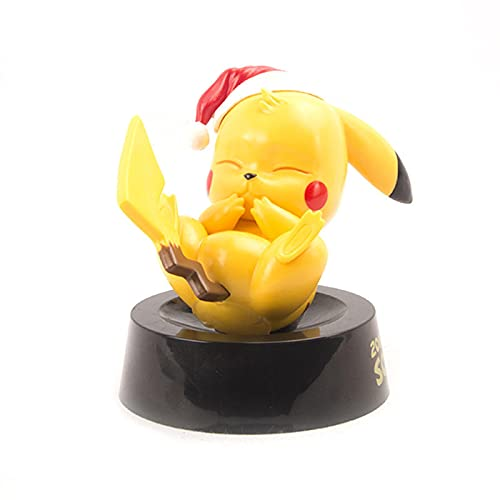 Pokemon 9Cm Cute Tiny Pikachu With Christmas Hat Action Figure Toys,Pokemon Pikachu Action Figure Gifts For Children