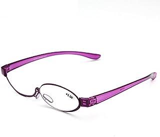 TT WARE Womens 180 Rotatable Magnify Glasses Makeup Adjustable Reading Glasses-Purple -3.0