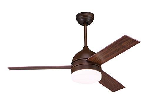 LUXAIRE Oil Rubbed Bronze Motor Designer Fan with LED Light and Remote (52 Inch, 1320 mm)