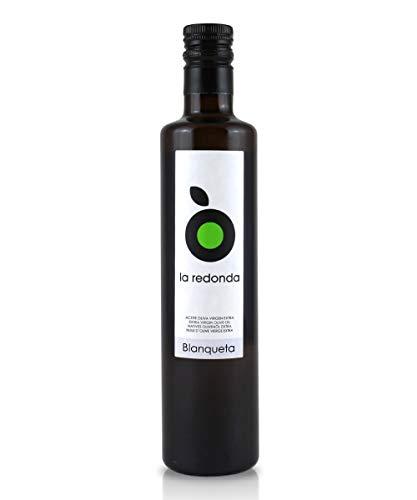 La Redonda - Aceite de Oliva Virgen Extra Blanqueta - 500ml Botella Cristal - Cosecha exclusiva de...