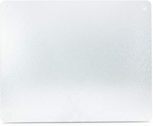 VANCE 15 X 12 inch Clear Surface Saver Tempered Glass Cutting Board, 81512C, 15 X 12