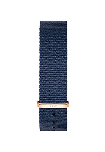 Daniel Wellington Classic Bayswater, Montre Bleu/Or Rose Bracelet, 20mm, NATO, pour Hommes