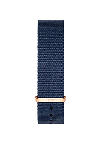 Daniel Wellington Classic Bayswater, Blue/Rose Gold Watch Strap, 20mm, NATO, for Men