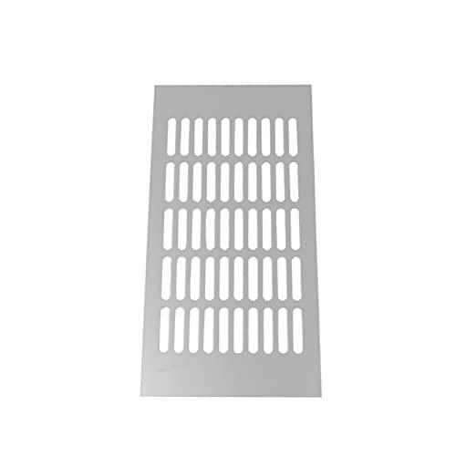Decorel Four Seasons 150x300mm Air Silver Vent Vent Grill Grill Cover Grille di Ventilazione Set di 2 Pezzi Adatti per Camper Scheda del condizionatore per roulotte