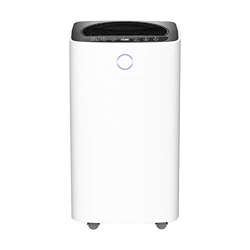 VINGO Luftentfeuchter 16L mit Wifi function und 12h Timing-Funktion für Räume bis 65 M³ (ca 25 m2),2 Betriebsarten, Digitalanzeige, Temperaturanzeige- Gegen Feuchtigkeit, Schimmel