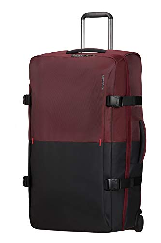 Samsonite Rythum - Travel Duffle with Wheels L, 78 cm, 115 Litre, Multicolour (Burgundy)