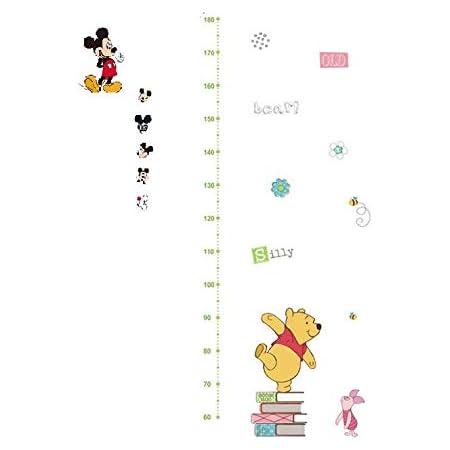 Disney ディズニー プーさん タイガー 身長計メモリ 測定 Winnie the Pooh 壁飾り ウォールステッカー インテリア ポイント 壁紙ステッカー シール 子供部屋測定範囲:60~ 180cm (A)
