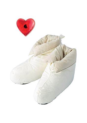 Zapatillas Blancas Mujer de estar por Casa Invierno Calidas y Comodas Pantuflas Invierno Calcetines con Antideslizante para Interior Calientamanos Talla Unica