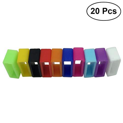 VORCOOL 20 Stücke Schützende Silikon Befestigungen Ring Halter Silikon Verschluss Ring für Fitbit Flex/Fitbit Alta/Garmin Vivofit Armband (Mischfarbe)