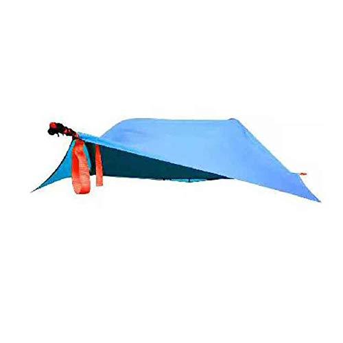 Einzelne Person Outdoor-Camping-Baumhaus Zelte Dreieck Hängen Leinwand Ultraleicht-Zelt für Wandern Reisen situable für Four Season,Royalblue