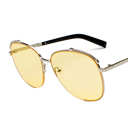 Glqwe Klassieke zonnebril, UV-bescherming, eenvoudige Big Box zonnebril, retro blender zonnebril