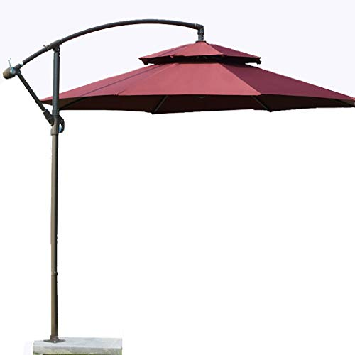 QIAOH Sombrilla Parasol Jardin, Sombrilla Parasol 3m, Sombrilla Parasol Grande, Sombrilla Parasol Excentrico, Sombrilla Playa Antiviento, Jardín Playa, Balcón, Piscina Patio