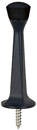 10 Pack - Designers Impressions Matte Black Heavy Duty Solid Rigid Door Stop w/Rubber Tip : 2643