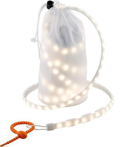 Goobay LED Outdoor Lichtband, 1 m LED Outdoor Lichtband, 1 m, Weiß-Orange - Ideal für Outdoor-Aktivitäten: Camping, Wandern, Festivals, Terrasse, Garten, Etc.