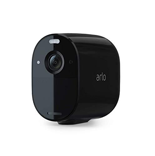 Arlo Essential Spotlight Überwachungskamera | Kabellos, WLAN, 1080p, Farbnachtsicht, 2-Wege Audio, 6 Monate Akkulaufzeit, Bewegungsmelder, direkte WLAN Verbindung, kein Hub erforderlich, VMC2030B