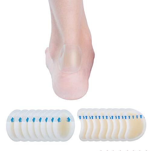 Blasenpflaster,Gel Pflaster, Pflaster Blase Fuß, MaxPack Hydrokolloid Invisible Blister Kissen 15 Stück, Fußpflege, Finger, Heel Protect, rutschfest