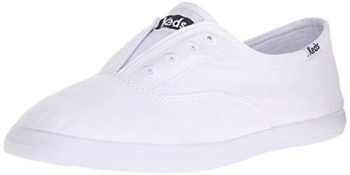 Keds womens Chillax Slip On Sneaker, White, 7.5 US