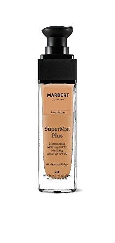 Marbert Super Mat Plus Foundation 02 Natural Beige, 1er Pack (1 x 30 ml)