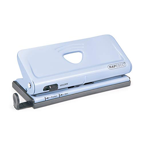 Rapesco 1323 - Perforadora ajustable de 6 agujeros, Azul