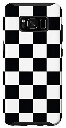 Galaxy S8 Checkered Black And White Checkerboard Phone Case