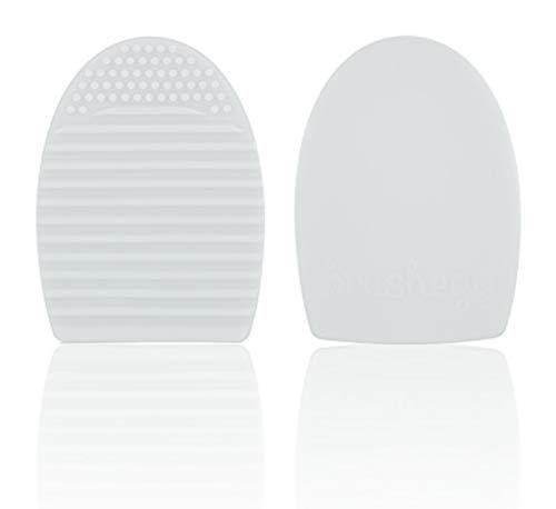 Limpiador Brochas de Maquillaje Cepillo Silicona Limpieza Rápido Fácil Cosmético Cepillo Brocha color Blanco