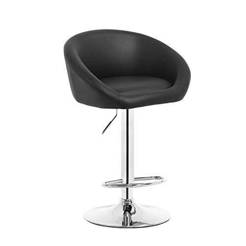 WG Chair- Bar Kruk Metaal + Pu 360 & Deg; Rotatie Moderne Minimalistische Bar Stoel Terug Draaibare Stoel Receptie Kinderstoel