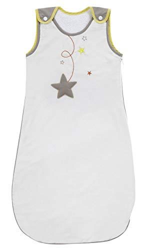 P 'tit Basile-Saco de dormir de verano para bebé, algodón orgánico, 90cm), diseño de estrellas, color gris perla