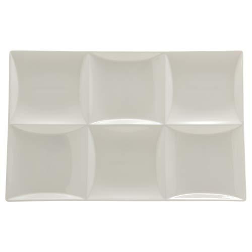 NARUMI(ナルミ) プレート 皿 石目レリーフ ホワイト 30cm スクエア 仕切皿 51095-5523