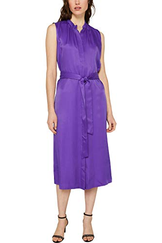 ESPRIT Collection Damen 119EO1E056 Kleid, Violett (Purple 510), (Herstellergröße: 38)