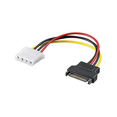 Wentronic 93634 Internes Stromadapterkabel (5,25 Zoll Kupplung auf S-ATA Stecker) schwarz