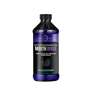 Midnight White Activated Charcoal Mouth Rinse