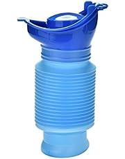 Hkwshop Urinario de Emergencia Aseo portátil Mini Camping al Aire Libre Viajes encogible Móvil Personal for IR al baño Pee Botella Urinario de Emergencia 750 ML Inodoro Masculino portátil