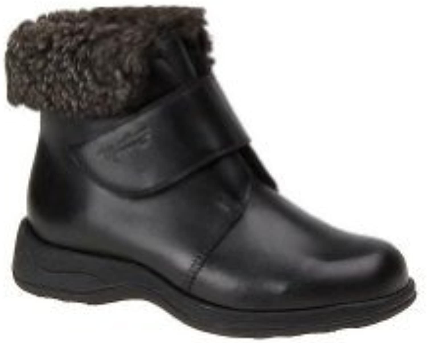 Martino Womens Black Leather Polar Boots with Fleece Lining 6.5 M US