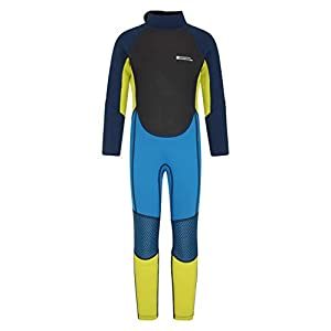Mountain Warehouse Kids Full Wetsuit - UPF50+ Sun Protection, Neoprene Children's Wetsuit, Flat Seams & Easy Glide Zip Swimming Wetsuit - Ideal for Kayaking, Diving